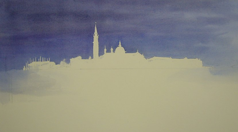 Use of masking fluid in watercolour