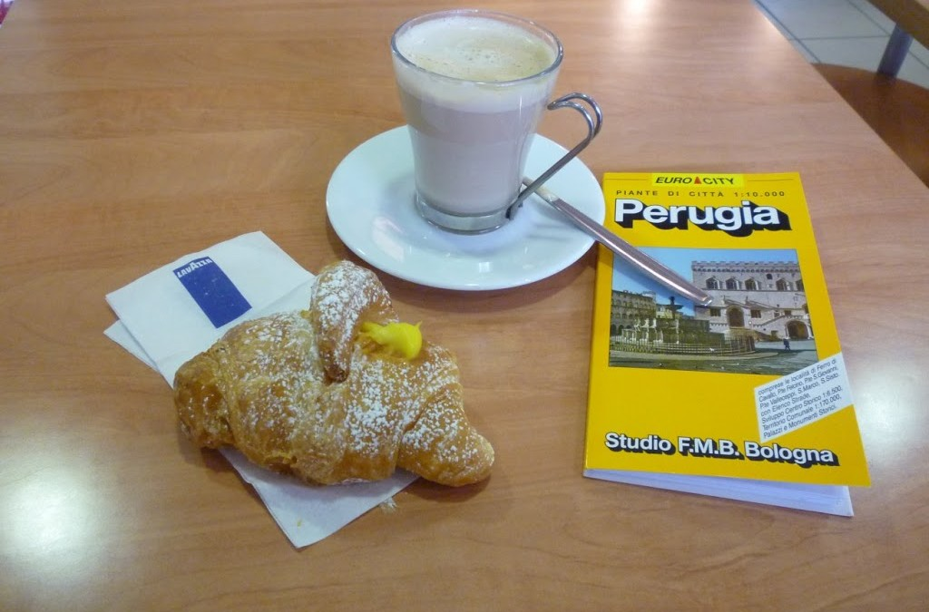 Monday 17 May 7.30am at the bus stop Perugia