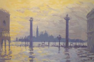 'Dawn after rain on the Piazzetta, Venice'.