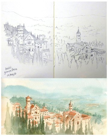 Painting of Assisi