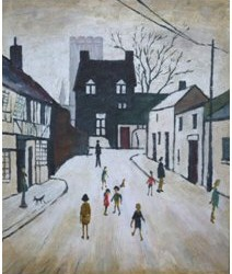 'A Street in Northleach' by L. S. Lowry 1947