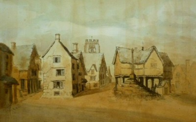 Northleach  Market Place – but as you have never seen it before