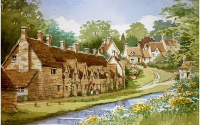 Springtime at Arlington Row, Bibury
