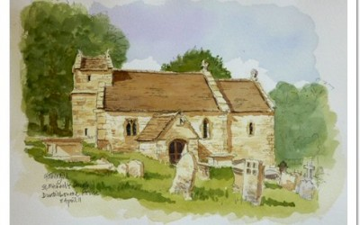A Painting of St.Michaels, Duntisbourne Rouse