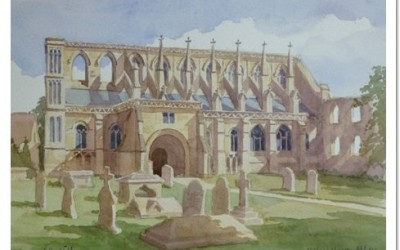 Malmesbury Abbey Painting