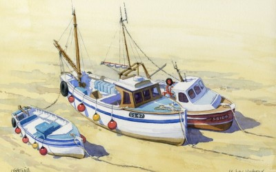 Fishing Boats at St. Ives, Cornwall