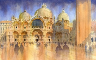 """After the Rain, St. Mark's Square Venice"""