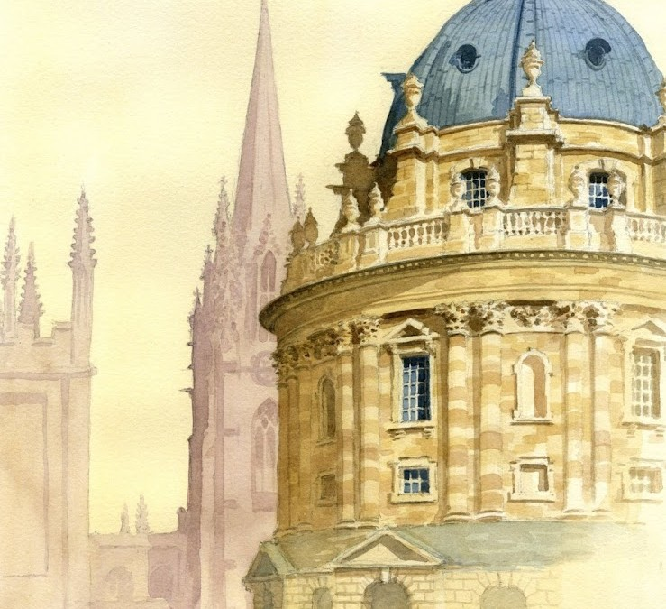 """Radcliffe Camera and St. Mary's, Oxford"""
