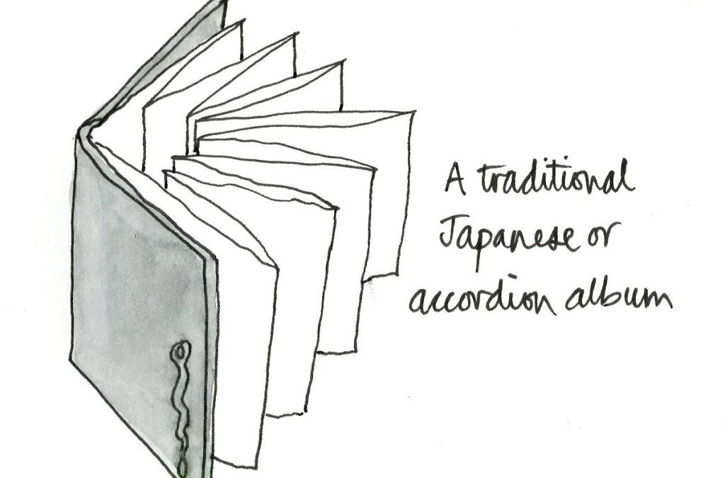 Creating a Japanese album sketchbook