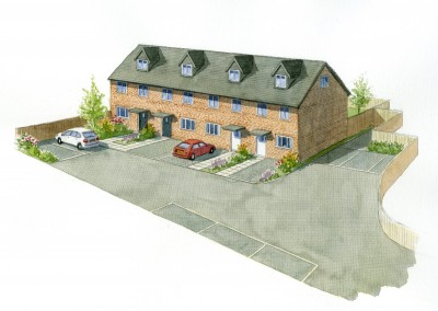 Terraced Houses Artist Impression