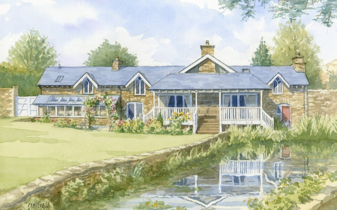 Country House with Stream