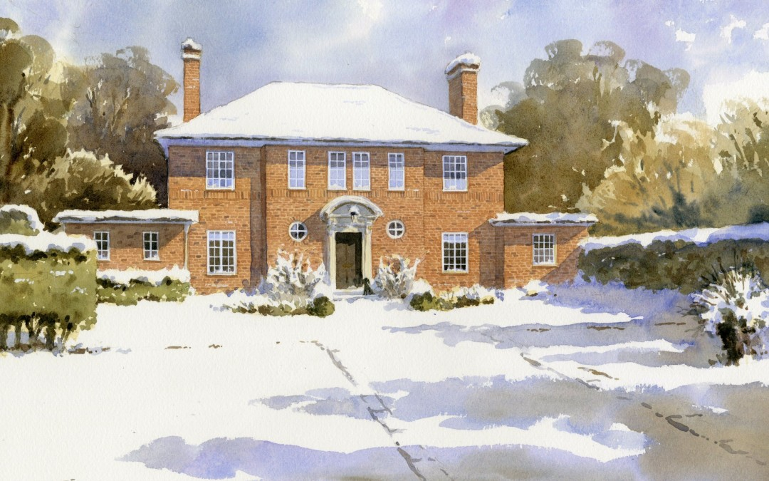 Brick Villa in Snow