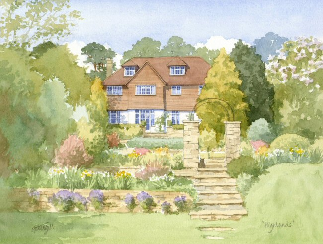 House with Terraced Garden