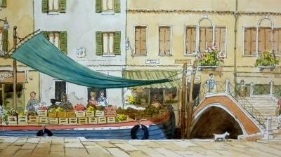 Vegetable Barge, Venice