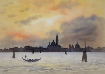 Sunset over San Giorgio, Venice
