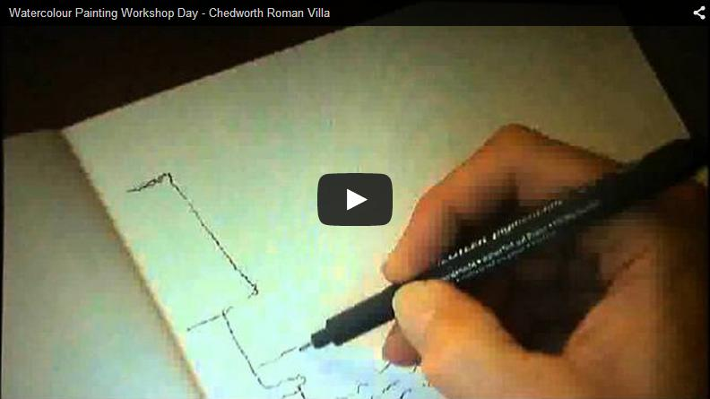 Watercolour Painting Workshop Day – Chedworth Roman Villa