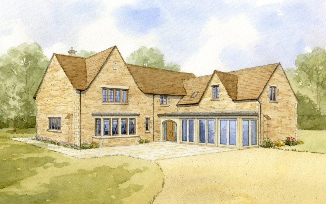 Proposed new house in Cotswold stone