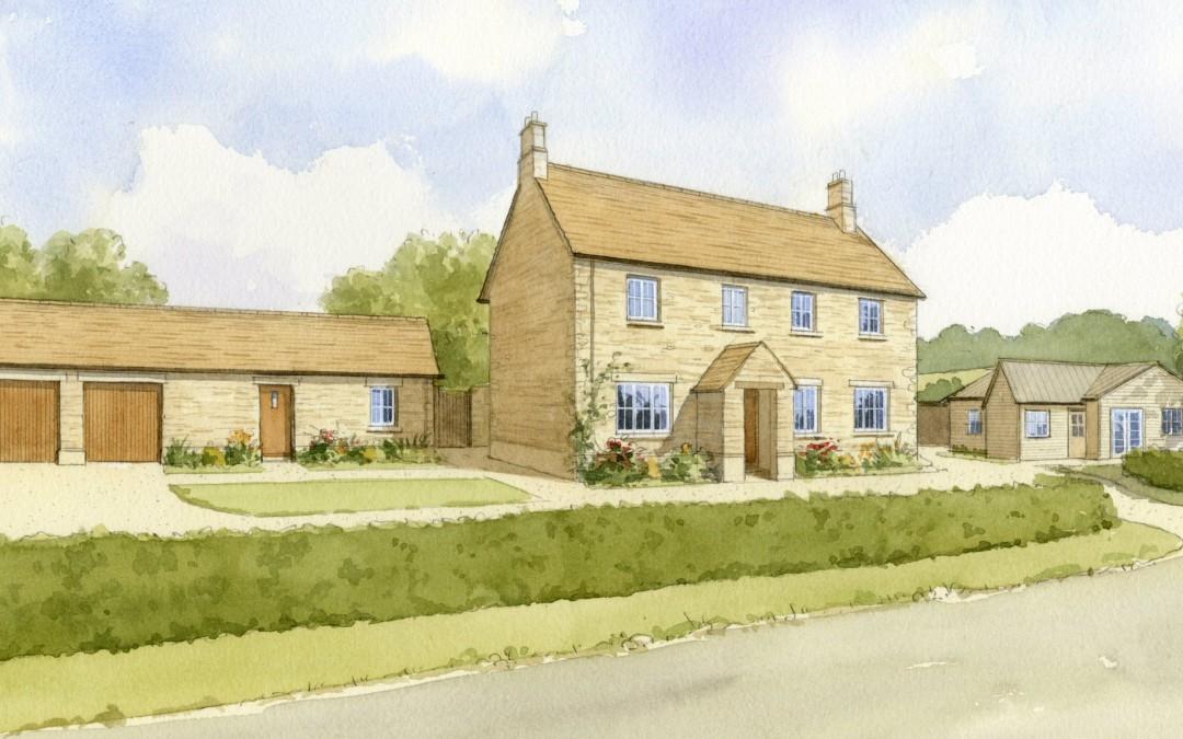 Farmhouse conversion with outbuildings