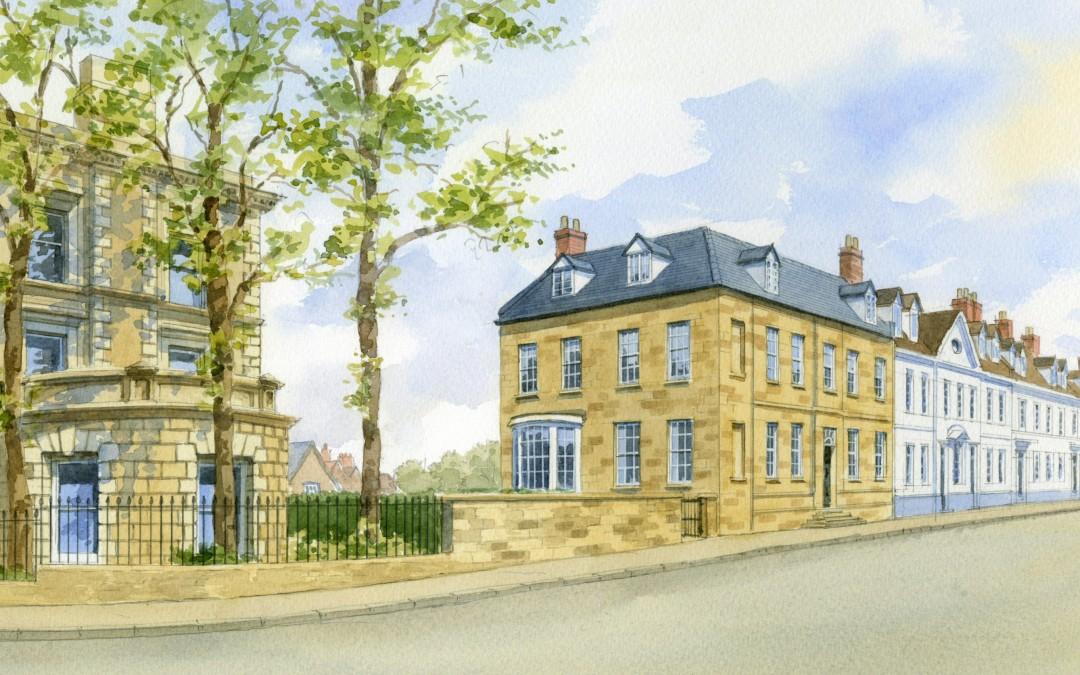 Illustration of Georgian Street in Warwick