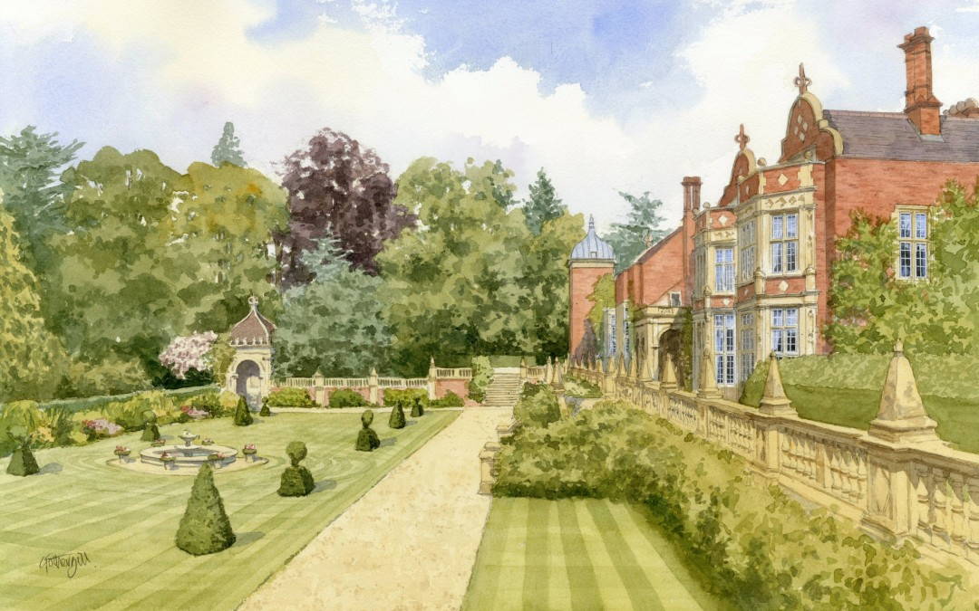 Tylney Hall, Hampshire showing lower terrace