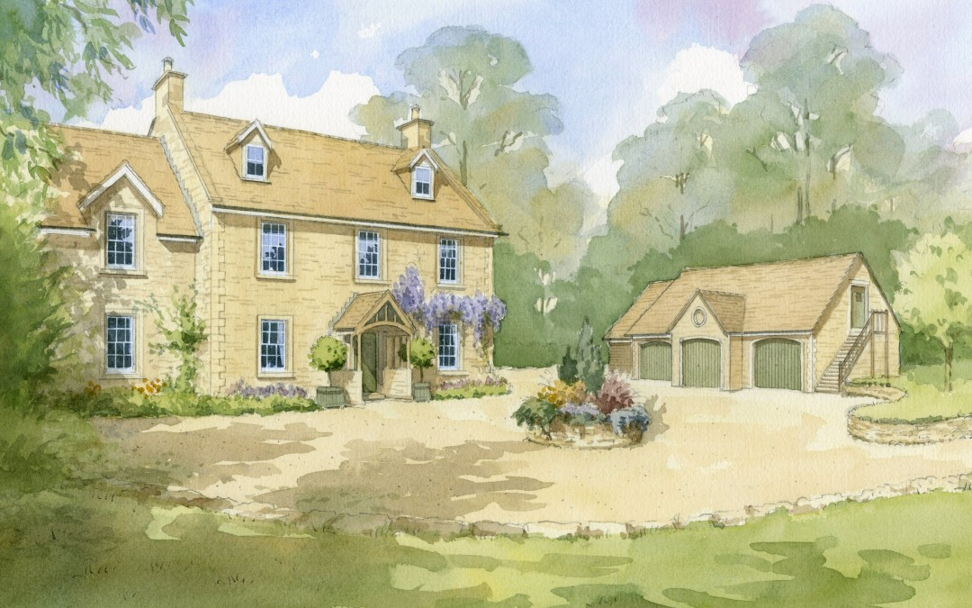 Artist's impression of farmhouse redevelopment