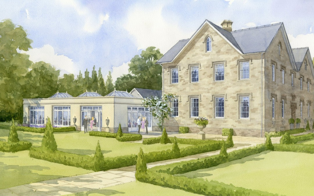 Country Hotel with proposed new Orangery