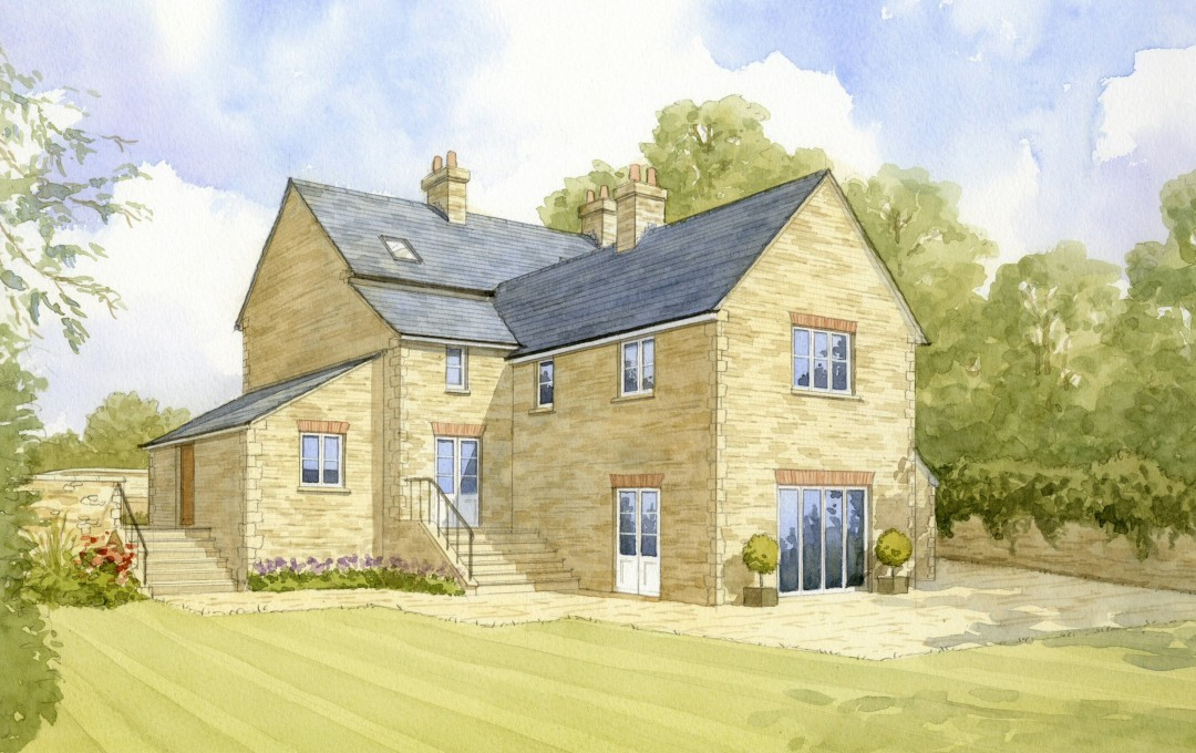 Artist's impression of new stone house