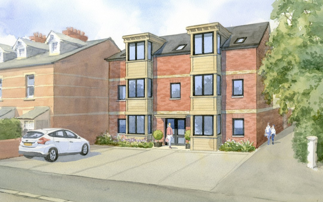 Artist's impression of proposed residential apartments