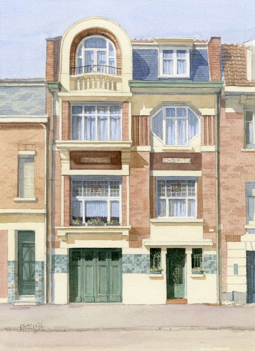 House in Belgium slightly Art Nouveau