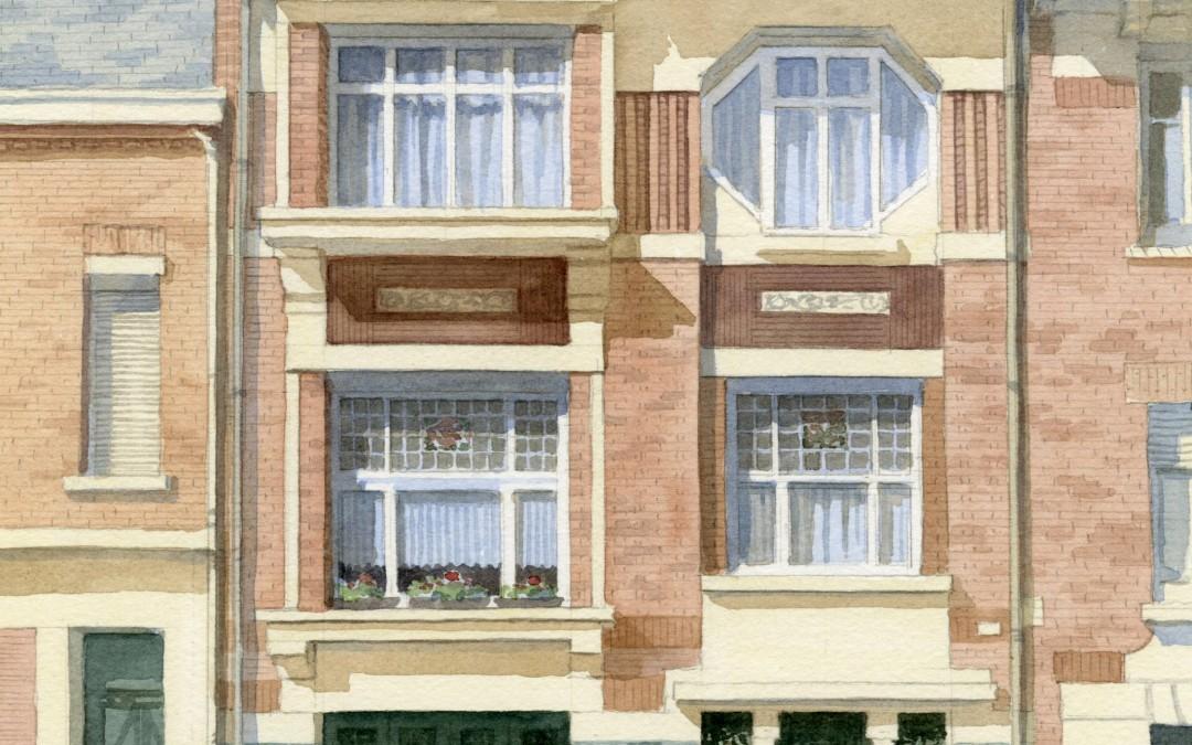 House in Belgium slightly Art Nouveau