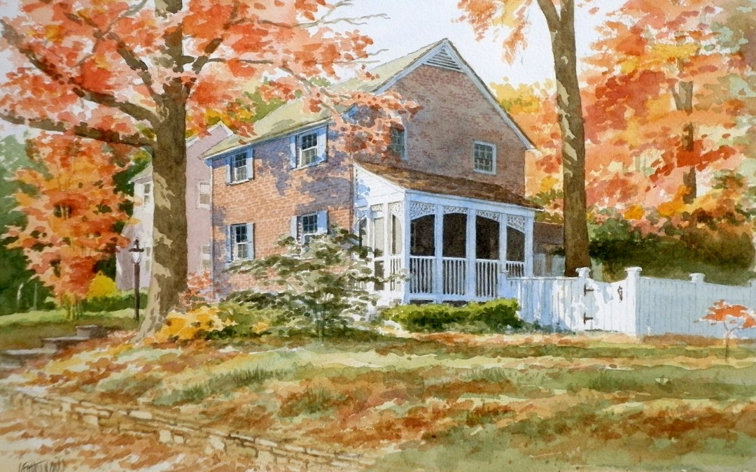 House in New England in the Autumn