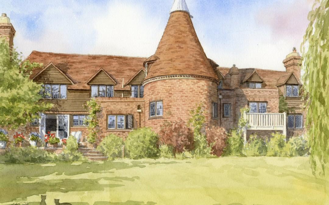 Oast House with garden