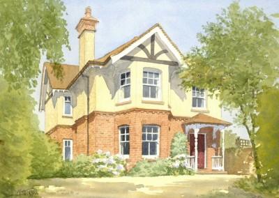 Detached brick and render villa