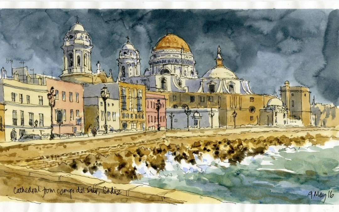 Sketching trip to Cadiz and Jerez de la Frontera, Spain