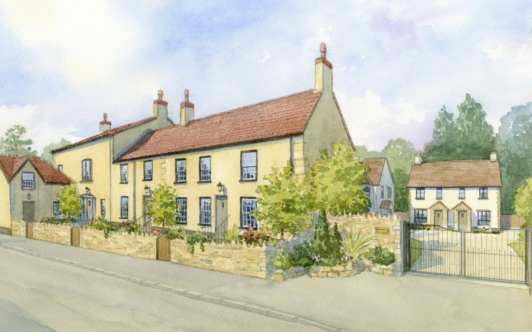 Artists impression of Pub conversion to residential housing