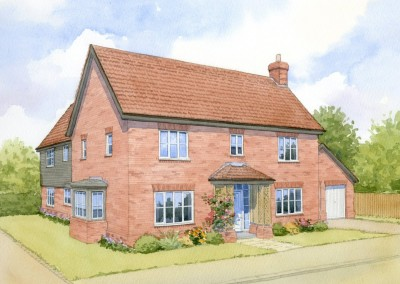 Artists impression of four-bedroom detached house type