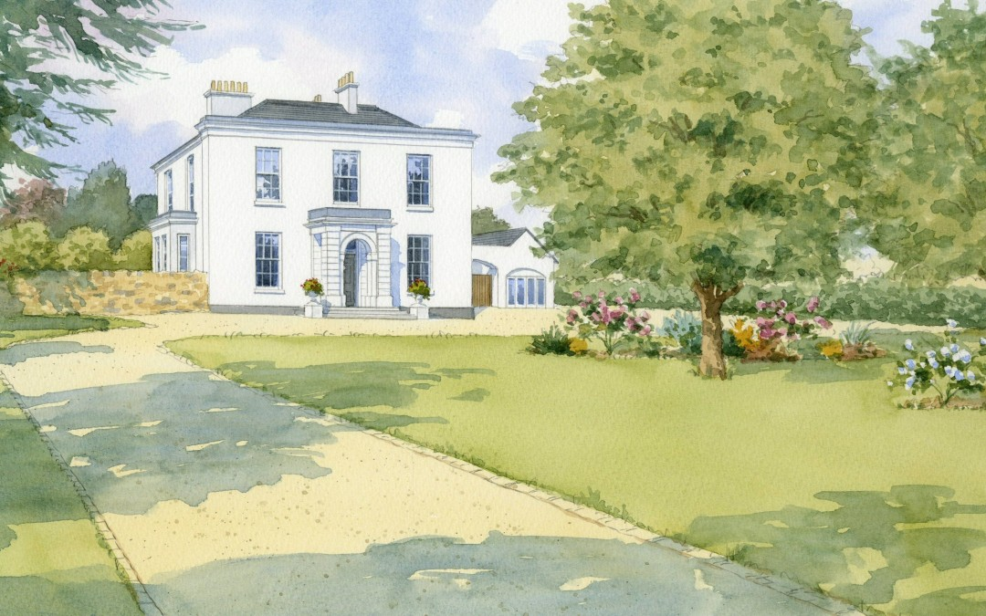 Artists impression of Country House conversion to apartments