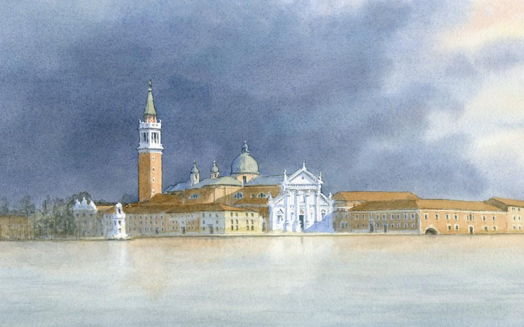 Evening light at San Giorgio Maggiore, Venice