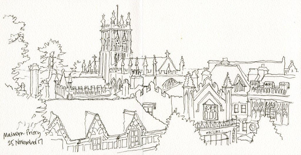 Malvern-Priory-pen-sketch
