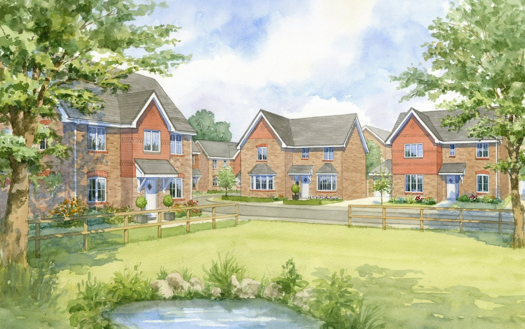 Proposed new build house types in Village setting