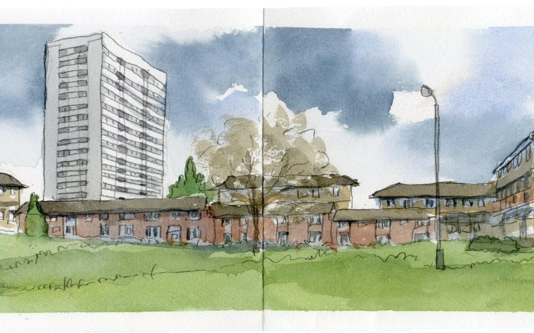 Urban Sketching Spring Hill Birmingham