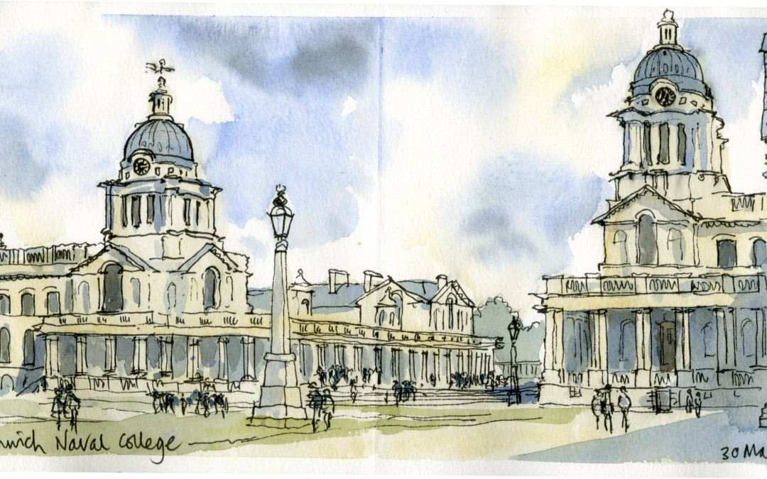 Greenwich Old Naval College sketching