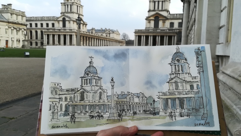 Greenwich-Naval-College-sketch