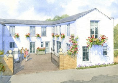 Small Regency Courtyard development into residential apartments