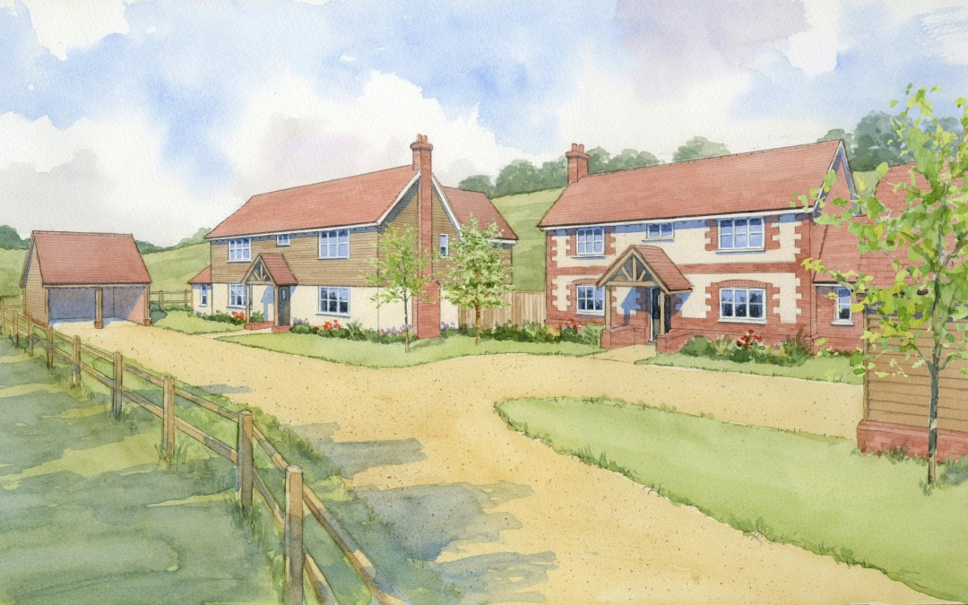 Two new houses in country setting